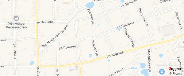Красная улица на карте Благовещенска с номерами домов