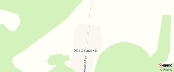 Центральная улица на карте деревни Ягафаровки с номерами домов