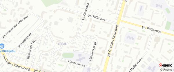 Костромская улица на карте Уфы с номерами домов