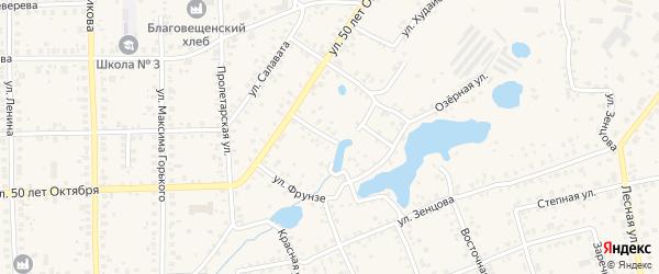 Улица Пугачева на карте Благовещенска с номерами домов