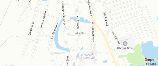 1-й переулок на карте Ишимбая с номерами домов