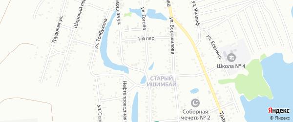 Улица Гоголя на карте Ишимбая с номерами домов