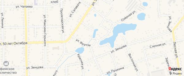 Улица Фрунзе на карте Благовещенска с номерами домов