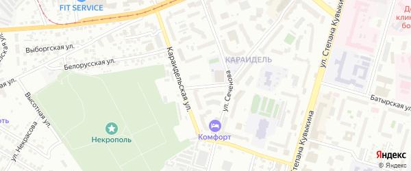 Онежская улица на карте Уфы с номерами домов