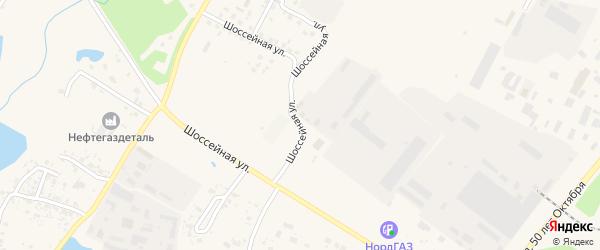 Шоссейная улица на карте Благовещенска с номерами домов