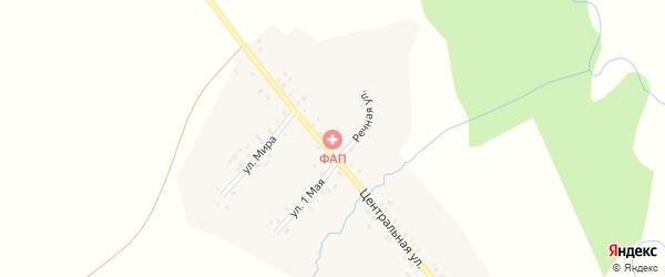 Центральная улица на карте деревни Нижнеиванаево с номерами домов