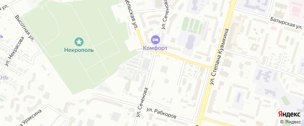 Улица Сеченова на карте Уфы с номерами домов