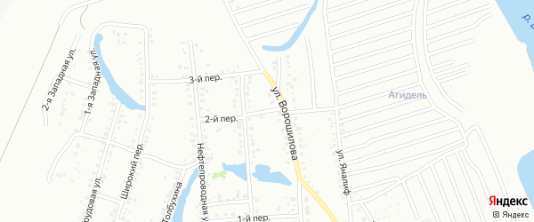 2-й переулок на карте Ишимбая с номерами домов