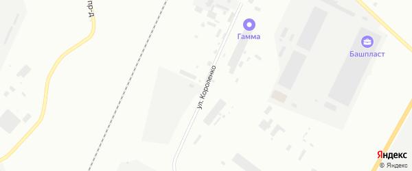 Улица Короленко на карте Стерлитамака с номерами домов