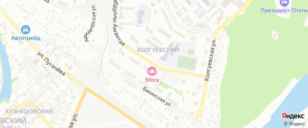 Габдуллы Амантая улица на карте Уфы с номерами домов
