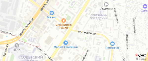 Улица Бессонова на карте Уфы с номерами домов