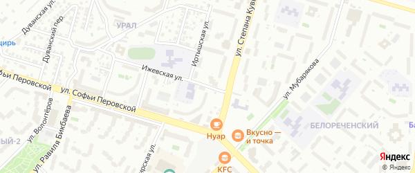Ижевская улица на карте Уфы с номерами домов
