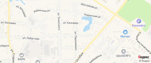 Улица Пархоменко на карте Благовещенска с номерами домов
