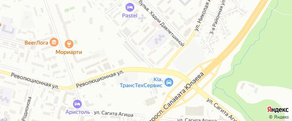 Улица Джалиля Киекбаева на карте Уфы с номерами домов