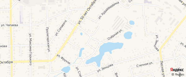 Озерная улица на карте Благовещенска с номерами домов