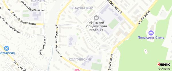 Улица Файзи Гаскарова на карте Уфы с номерами домов
