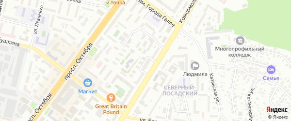 Железняцкая улица на карте Уфы с номерами домов