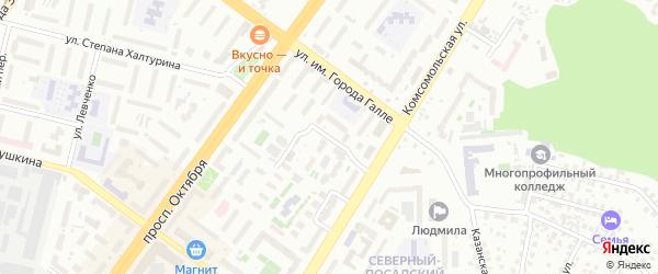 Улица Электрификации на карте Уфы с номерами домов