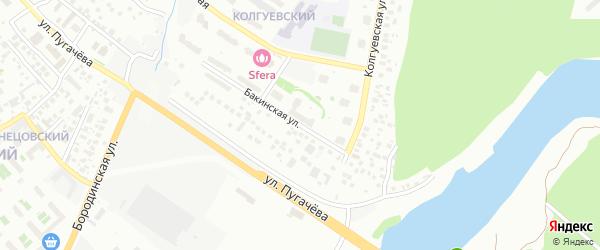 Бакинская улица на карте Уфы с номерами домов