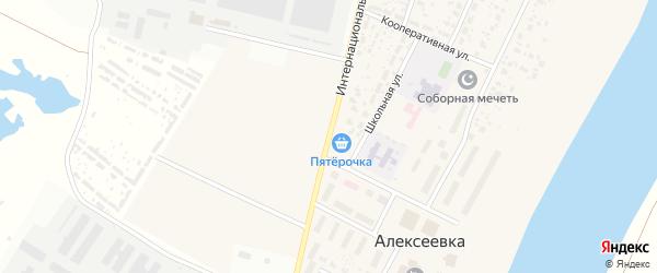 Интернациональная улица на карте деревни Алексеевки с номерами домов