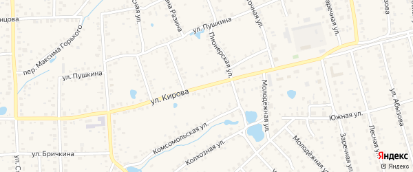 Улица Кирова на карте Благовещенска с номерами домов