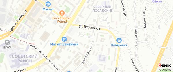 Житомирская улица на карте Уфы с номерами домов