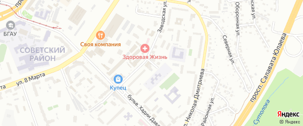 Батумская улица на карте Уфы с номерами домов