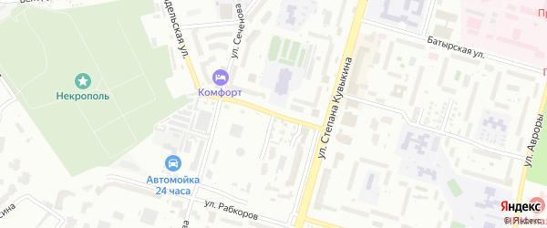 Тамбовская улица на карте Уфы с номерами домов