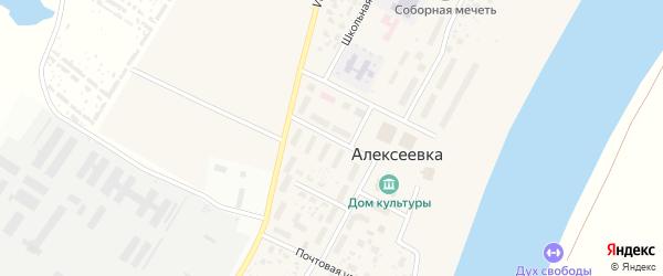 Комсомольская улица на карте деревни Алексеевки с номерами домов
