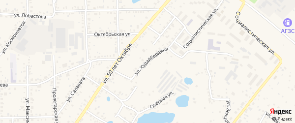 Улица Худайбердина на карте Благовещенска с номерами домов