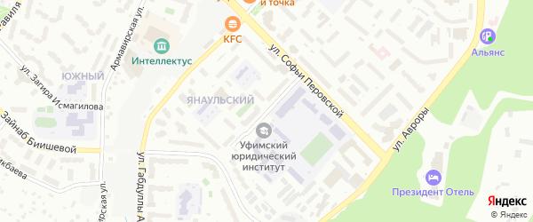 Улица Муксинова на карте Уфы с номерами домов