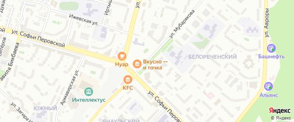 Улица Мубарякова на карте Уфы с номерами домов