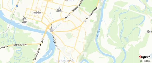 Карта Вознесенского сельсовета республики Башкортостан с районами, улицами и номерами домов