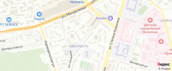 Дуванский бульвар на карте Уфы с номерами домов