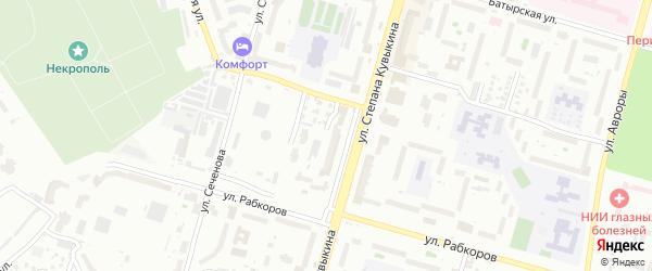 Улица Радищева на карте Уфы с номерами домов