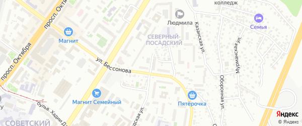 Омский переулок на карте Уфы с номерами домов