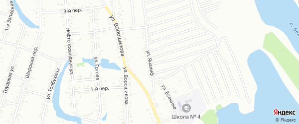 Улица Яналиф на карте Ишимбая с номерами домов