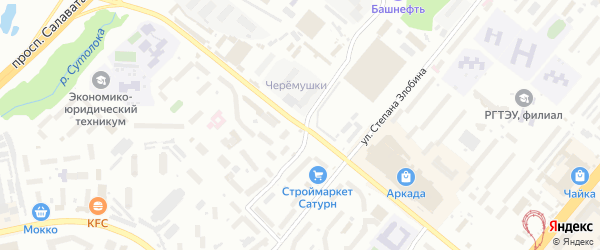 Улица Минигали Губайдуллина на карте Уфы с номерами домов