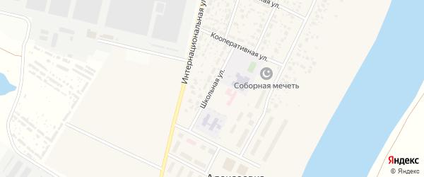 Школьная улица на карте деревни Алексеевки с номерами домов