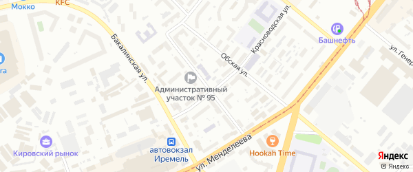 Улица Акназарова на карте Уфы с номерами домов