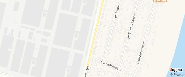 Ломоносовский переулок на карте деревни Алексеевки с номерами домов