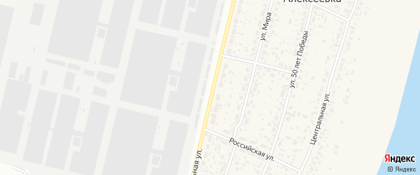 Лесная улица на карте деревни Алексеевки с номерами домов
