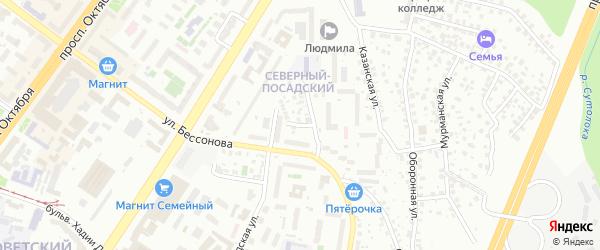 Ишимбайский переулок на карте Уфы с номерами домов