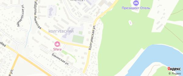 Колгуевская улица на карте Уфы с номерами домов