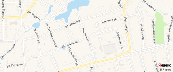 Восточная улица на карте Благовещенска с номерами домов