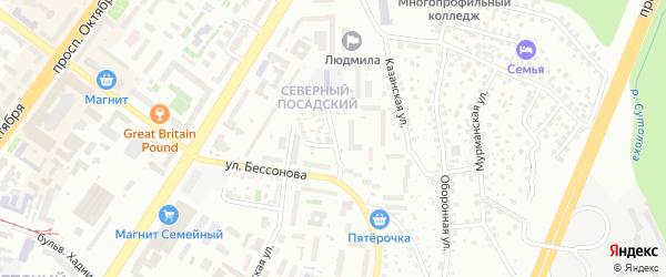 Окружная улица на карте Октябрьского с номерами домов