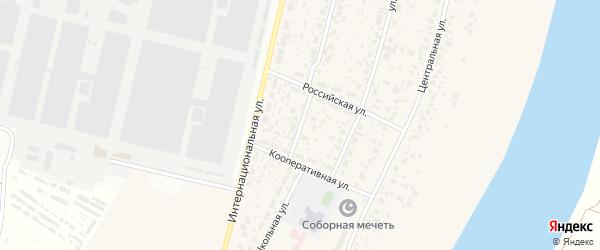 Кооперативный переулок на карте деревни Алексеевки с номерами домов