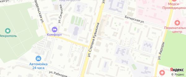 Улица Степана Кувыкина на карте Уфы с номерами домов