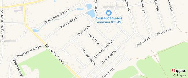 9 Мая улица на карте Благовещенска с номерами домов