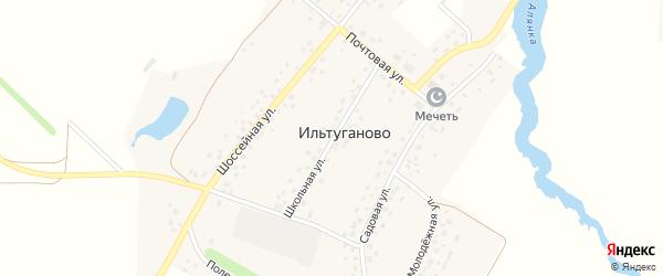 Школьная улица на карте села Ильтуганово с номерами домов